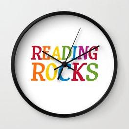 Readking Rocks Wall Clock