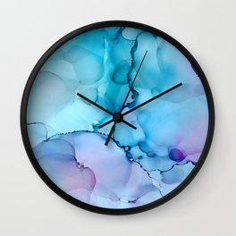Alcohol Ink - Calm Wall Clock