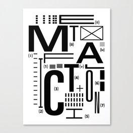 METAL FICTION Canvas Print