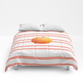 Ruston Peach Rugby Stripe Comforters