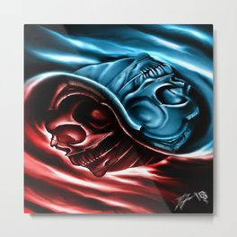 The two races Metal Print