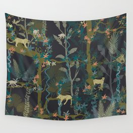 Tropical wild animals in the jungle Wall Tapestry