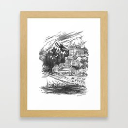 River Copper Mine Framed Art Print