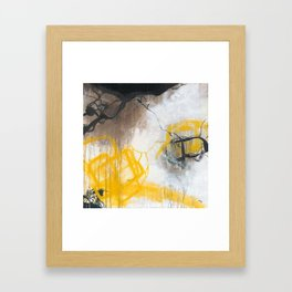 Tension - Square Abstract Expressionism Framed Art Print