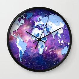 world map political galaxy 2 Wall Clock