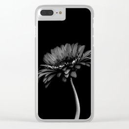 Daisy gerbera. Black and white Clear iPhone Case