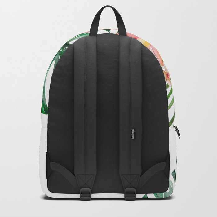 Tropical Jungle Hibiscus Flowers - Floral on #Society6 Backpack