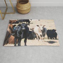 Cow portrait Rug