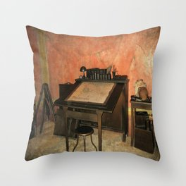 Antique Nautical Desk  Throw Pillow