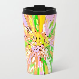 Spring Dahlia Abstract Flower Travel Mug