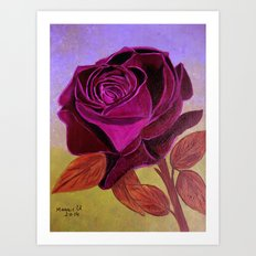 Mother's Day Rose  Art Print
