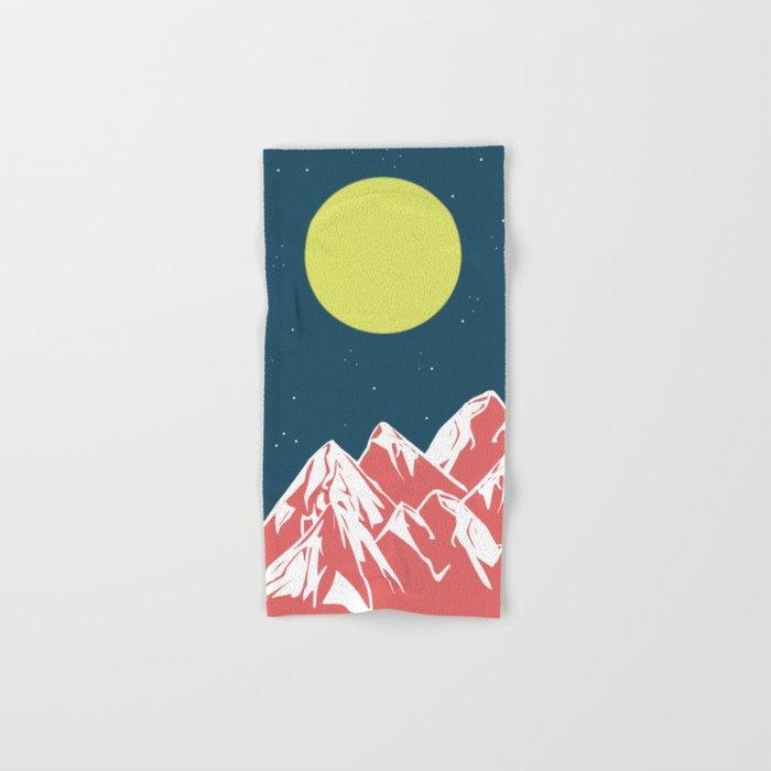 galactic mountains Hand & Bath Towel