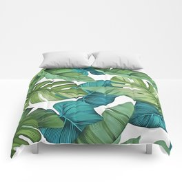 Tropical leaves II Comforters