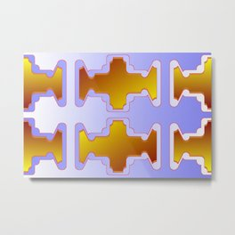 Copper plates pattern Metal Print