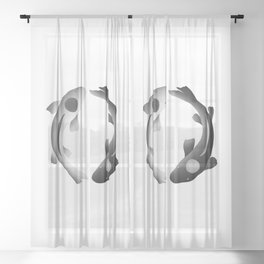 the good and the bad. Sheer Curtain