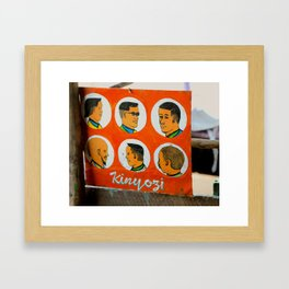 Kinyozi Framed Art Print