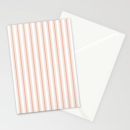 Large Shell Coral Peach Orange Mattress Ticking Stripes Stationery Cards