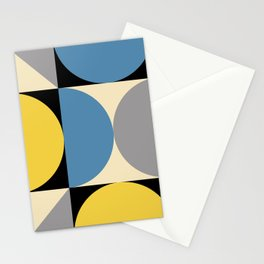 Mid Century Modern Geometric Abstract 240 Stationery Cards