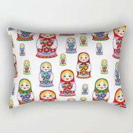Russian nesting dolls pattern Rectangular Pillow