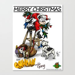 Merry Christmas from Cowman Canvas Print
