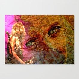 Guitar Girl Canvas Print