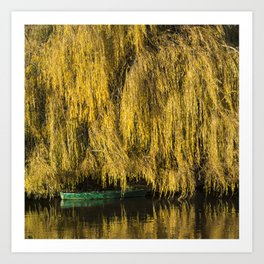 Under the Weeping Willow Art Print