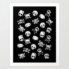 Cute Skull Art Print