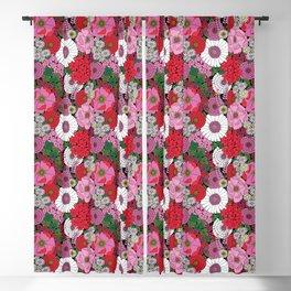 Vintage Florals Geranium Blackout Curtain