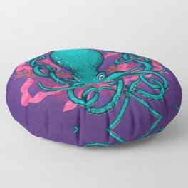 Octupus and Coral Floor Pillow