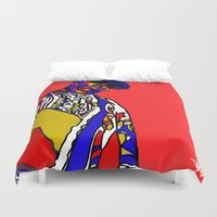 biggie Duvet Covers featuring BIGGIE by Fake Wealth
