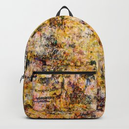 Urban Grunge Decay Texture Abstract Pattern Design , Rugged Mixed Media Modern Art Painting Backpack