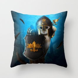 owl in the night Throw Pillow