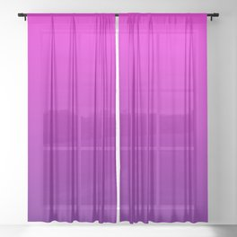Pink - Purple Ombre Gradient Sheer Curtain