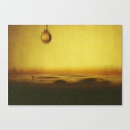 A drop of coffee Canvas Print