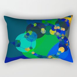 raelyn - abstract design of royal blue kelly green bright sunshine yellow teal Rectangular Pillow