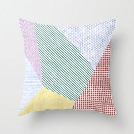 Chalk Patterns Throw Pillow