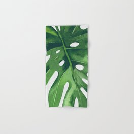 Monstera Leaf Hand & Bath Towel