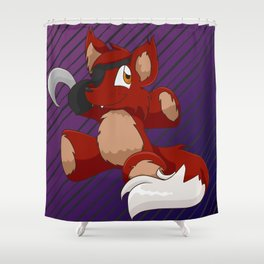 Foxie Plushie Shower Curtain