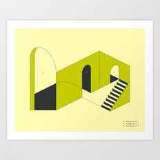 EMERGENCY EXITS (3) Art Print