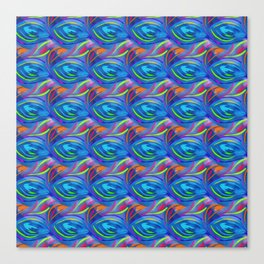 Colorful  blue scales Canvas Print