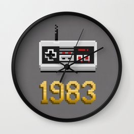 1983 [Pixel Art] Wall Clock