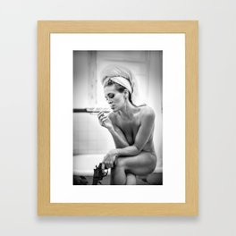 The French Inhale Framed Art Print