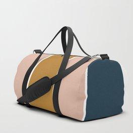 Retro Autumn Color Block Duffle Bag