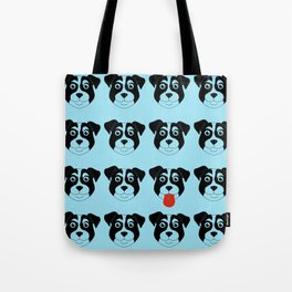 Dogs Blue Tote Bag