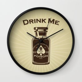Drink Me! Wall Clock