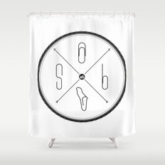S6 : hipster clip Society6 Shower Curtain