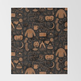 Autumn Nights: Halloween Throw Blanket
