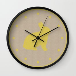 Cute Yellow Bunny Wall Clock