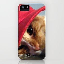 Cute Cat Wearing Red Cap iPhone Case