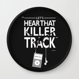 Lets Hear That Killer Track Wall Clock